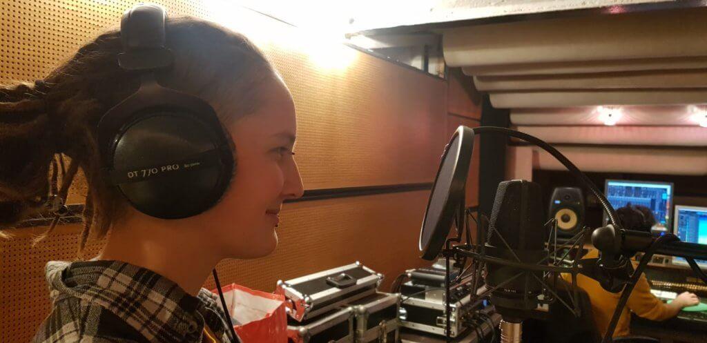 Anna von Zargenbruch im Studio